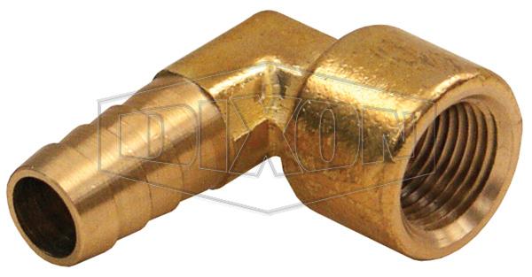 Female NPTF x Hose Barb 90° Elbow