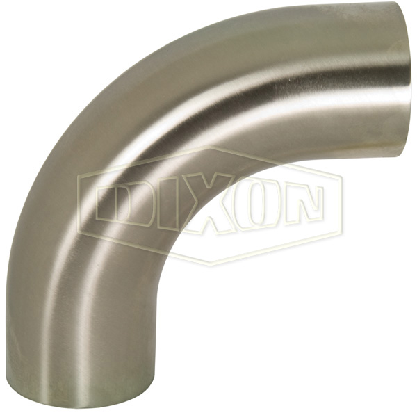 Polished 90° Weld Elbow with Tangent