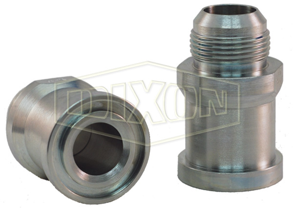 Straight Flange x Male JIC Hydraulic Adapter