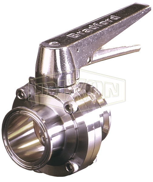 B5101 Series Butterfly Valve with Trigger Handle Clamp End