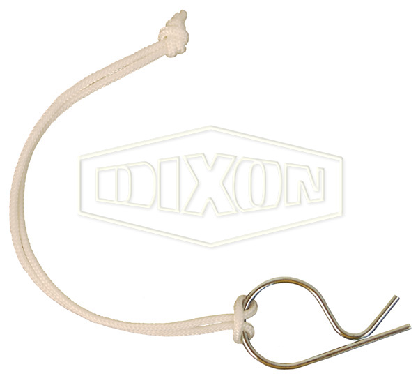 Lanyard with Clip for Boss-Lock Couplings