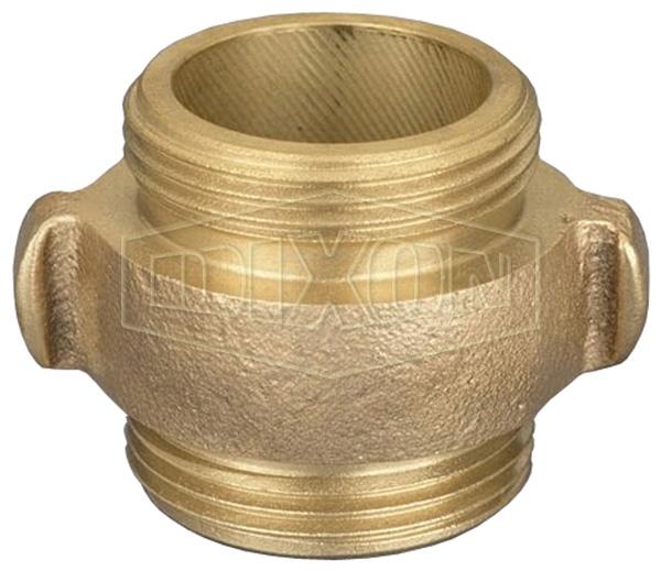Double Male Rocker Lug Brass