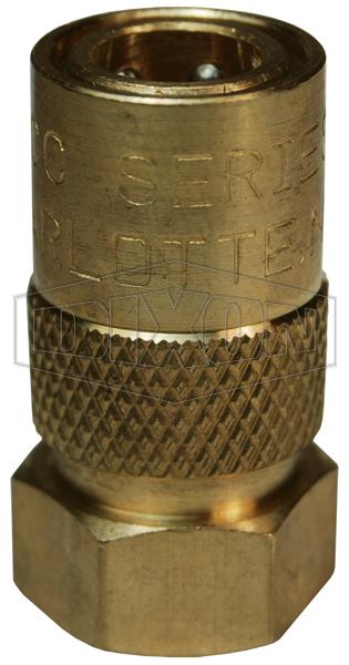 DQC CM-Series Industrial Mold Interchange Unvalved Coupler Female NPTF