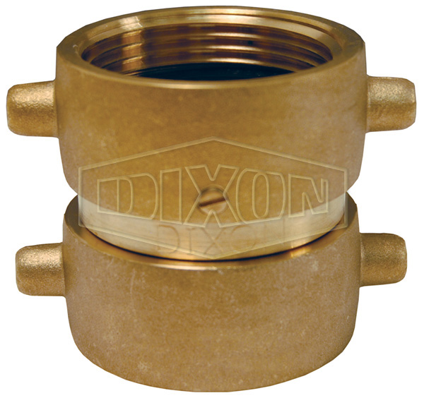 Double Female Swivel Pin Lug Brass