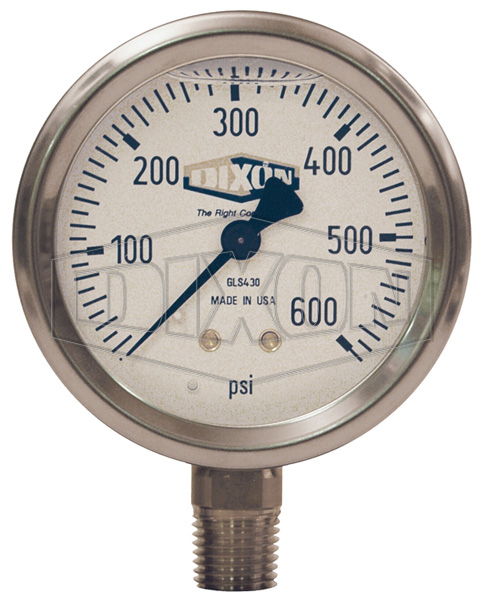 Liquid Filled Stainless Case Gauge Lower Mount