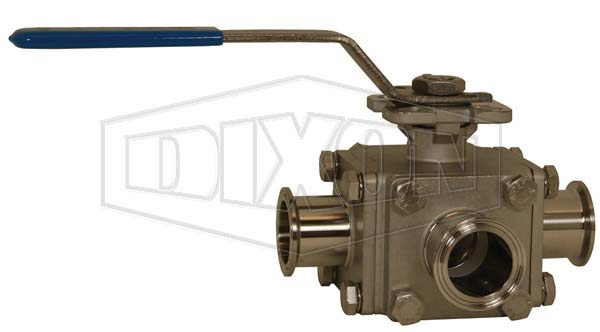 3-way Multi-port Sanitary Stainless Steel Ball Valve