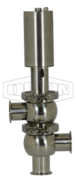 SV-Series Single Seat Hygienic Valve L/L Body Pneumatic Actuator Spring Return Air to Raise