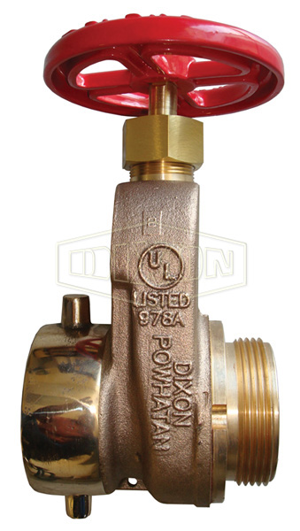 Single Hydrant Gate Valve Cast Brass with Hand Wheel