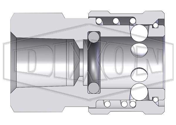 E-Series straight through interchange female coupler