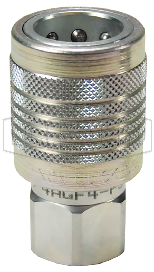 AG-Series Agricultural Push-Pull Poppet Valve Female Threaded Coupler