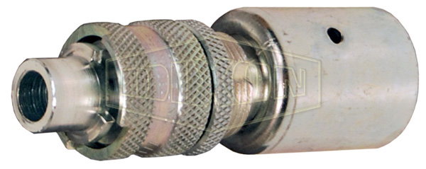 DQC N-Series Bowes Interchange Safety-Lock Hose Barb Plug with Staked Ferrule