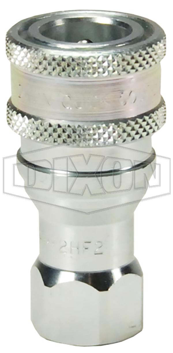 h series iso b industrial interchange poppet valve female threaded couplers steel brass hydraulic couplings