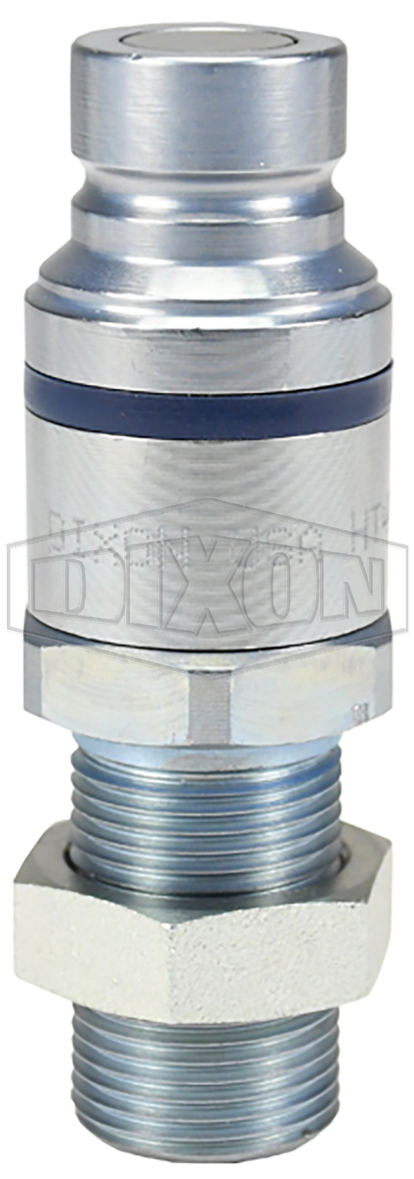 DQC HT-Series Correct Connect® Flushface Male Threaded Bulkhead Coupler