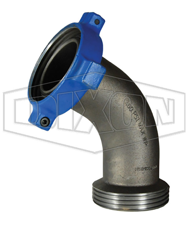 One-Piece Female x Male Hammer Union 60° Elbow Adapter